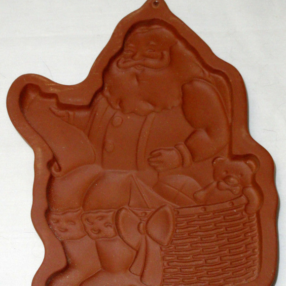 Longaberger Other - Cookie Mold Stoneware Teddy Bear Christmas 1992